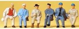 Preiser 14145 Sitzende Arbeiter | 6 Stück | Figuren Spur H0 online kaufen