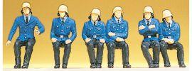 Preiser 14207 Sitzende Feuerwehrmänner | 6 Stück | Figuren Spur H0 online kaufen