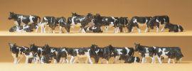 Preiser 14408 Kühe schwaz und weiß | 30 Stück Miniaturfiguren 1:87 online kaufen