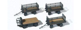 Preiser 17126 Elektrokarre mit drei Hängern Bausatz 1:87 online kaufen