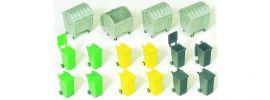 Preiser 17202 Müllcontainer und Mülltonnen 16 Stück Bausatz 1:87 online kaufen