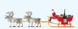 Preiser 30399 Weihnachtsschlitten mit 4 Rentieren | Figurenset 1:87 online kaufen