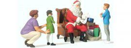 Preiser 44931 Weihnachtsmann im Sessel mit Mutter und Kindern | Figuren Spur G online kaufen