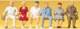 Preiser 45152 Sitzende Personen | 6 Miniaturfiguren | Spur G online kaufen