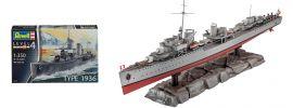 Revell 05141 German Destroyer Type 1936 | Schiff Bausatz 1:350 online kaufen