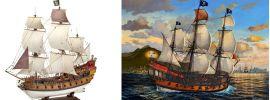 Revell 05605 Piratenschiff Karibik | Schiffsbausatz 1:72 online kaufen