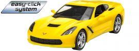 Revell 07449 Corvette Stingray 2014 easy-click | Auto Steckbausatz 1:25 online kaufen