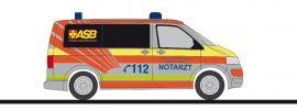 RIETZE 53403 VW T5 2010 Notarzt ASB Karlsruhe Blaulichtmodell 1:87 online kaufen