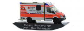 RIETZE 61716 Mercedes-Benz Sprinter Strobel RTW DRK Bad D�rkheim Blaulichtmodell 1:87 online kaufen