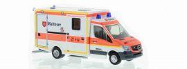 RIETZE 61728 Mercedes-Benz WAS RTW facelift Malteser Flughafen München Blaulichtmodell Spur H0 online kaufen