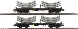 Rivarossi HR6269 2-teiliges Set Flachwagen Rmms | DB | Tübbings | Spur H0 online kaufen