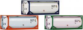 Roco 05216 3-tlg. Set 20ft Tankcontainer | Spur H0 online kaufen