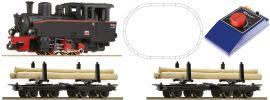 Roco 31030 Analog Startset Feldbahn Dampflok + Holzzug | Spur H0e online kaufen