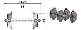 Roco 40195 Radsatz 9mm | Wechselstrom | 2 Stk. Spur H0 online kaufen