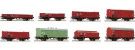 Roco 44001 8-teiliges Güterwagen Set CSD | DC | Spur H0 online kaufen