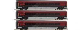 Roco 64193 Personenwagen-Set 3-tlg. Railjet ÖBB | AC-Digital | Spur H0 online kaufen