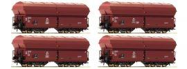 Roco 67083 Klappdeckelwagen-Set 4-tlg. KKt 57 DB | Spur H0 online kaufen