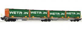 Roco 67401 Doppeltaschenwagen Wetron AAE   DC   Spur H0 online kaufen