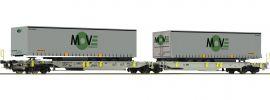 Roco 67404 Doppeltaschen-Gelenkwagen Spedition MOVE AAE | DC | Spur H0 online kaufen