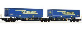 Roco 67414 Doppeltaschenwagen LKW Walter Wascosa | DC | Spur H0 online kaufen