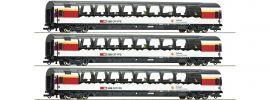 Roco 74081 Wagen-Set 3-tlg. Gotthard Express SBB | Set 1 | DC | Spur H0 online kaufen