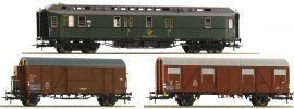Roco 74091 Wagen-Set 3-tlg. Postzug DB | DC | Spur H0 online kaufen