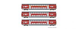 Roco 74137 Doppelstockwagen DB | 3-tlg Set | DC | Spur H0 online kaufen