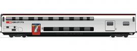 Roco 74494 Doppelstockwagen 1.Kl. mit Gepäck AD IC 2020 SBB | DC | Spur H0 online kaufen