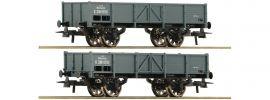Roco 76048 2er Wagenset offene Güterwagen kkStB | DC | Spur H0 online kaufen