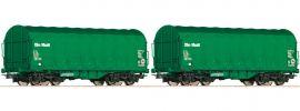 Roco 76049 2-tlg. Set Schiebeplanenwagen On Rail | DC | Spur H0 online kaufen