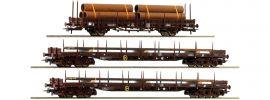 Roco 76053 3-tlg. Set Rungenwagen Stahlzug ÖBB   DC   Spur H0 online kaufen