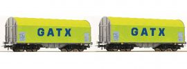 Roco 76055 Schiebeplanwagen-Set 2-tlg. Shimmns GATX   Spur H0 online kaufen