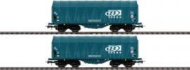 Roco 76071 2-tlg. Set Schiebeplanenwagen SNCB | DC | Spur H0 online kaufen