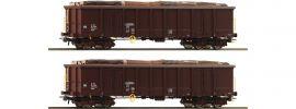 Roco 76075 2-tlg. Set Offene Güterwagen Eanos ÖBB | DC | Spur H0 online kaufen