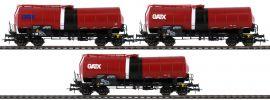 Roco 76088 3-tlg. Set Knickkesselwagen GATX | DC | Spur H0 online kaufen