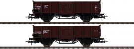 Roco 76125 Offene Güterwagen Set 2-tlg El DSB | DC | Spur H0 online kaufen