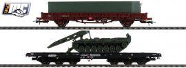 Roco 76129 Güterwagen-Set 2-tlg. Panzertransport DB | DC | Spur H0 online kaufen