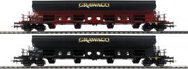 Roco 76135 Selbstentladewagen Grawaco   Set 2tlg   DC   Spur H0 online kaufen