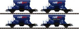 Roco 76137 4-tlg. Set Schotterwagen Railpro | DC | Spur H0 online kaufen