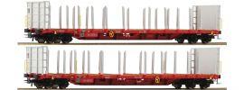 Roco 76142 Rungenwagen Set 2-tlg. Rnoos-uz RCW ÖBB | DC | Spur H0 online kaufen