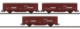 Roco 76169 Schiebewandwagen-Set 3-tlg. Tbis NSB   DC   Spur H0 online kaufen