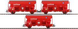 Roco 76175 3-tlg. Set Schwenkdachwagen Tds Railion der DB | rot | Spur H0 online kaufen