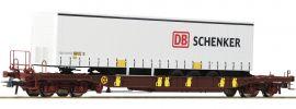 Roco 76220 Taschenwagen T3 m. DB Schenker Trailer AAE | DC | Spur H0 online kaufen