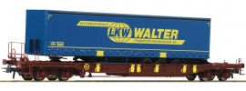 Roco 76221 Taschenwagen T3 m. LKW Walter Trailer AAE | DC | Spur H0 online kaufen