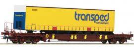 Roco 76223 Taschenwagen T3 m. transped Trailer DSB | DC | Spur H0 online kaufen