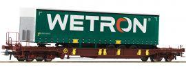 Roco 76232 Taschenwagen T3 m. Wetron Auflieger AAE | DC | Spur H0 online kaufen