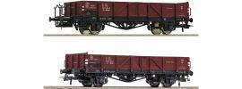 Roco 76281 2-tlg. Set Offene Güterwagen PKP | DC | Spur H0 online kaufen