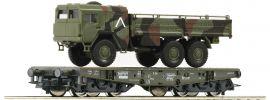 Roco 76394 Schwerlastwagen mit MAN 6x6 Bundeswehr DB AG   Spur H0 online kaufen