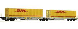 Roco 76421 Gelenktaschenwagen Sdggmrs/T2000 DHL AAE   DC   Spur H0 online kaufen