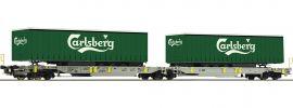 Roco 76432 Doppeltaschen-Gelenkwagen Carlsberg AAE | DC | Spur H0 online kaufen